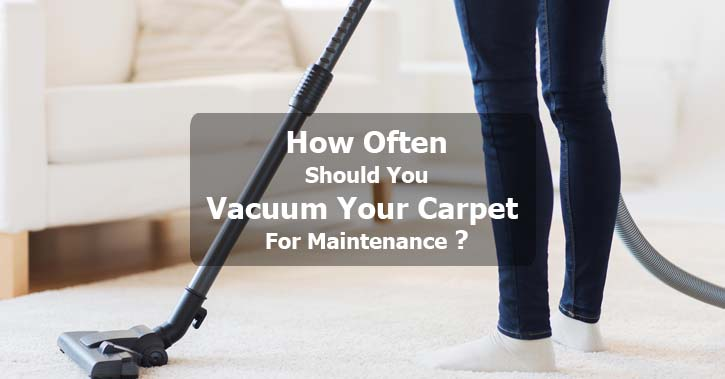 How Often Should You Vacuum Your Carpet For Maintenance?
