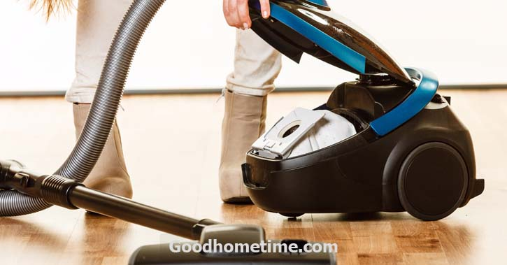 Remove the bin from the vacuum
