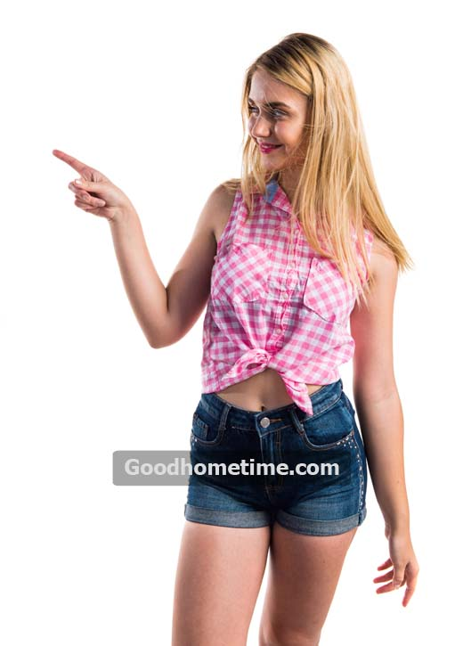 477.2. blonde-girl-pointing-to-the