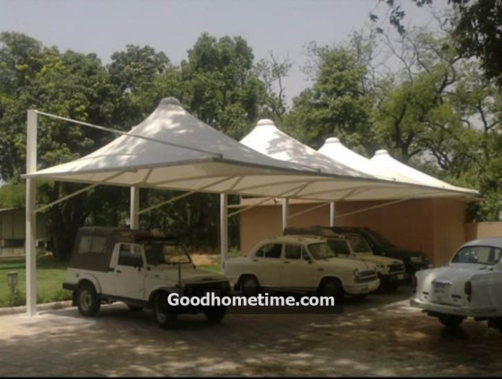 Pyramid style tensile car parking